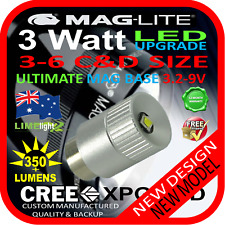 MAGLITE LED UPGRADE 3-6C/D CREE 3W BULB GLOBE for TORCH FLASHLIGHT 3.2-9V 350+lm