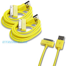2X 10FT USB TO 30PIN YELLOW CABLE DATA SYNC CHARGER SAMSUNG GALAXY TAB TABLET 7""