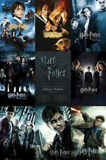 HARRY POTTER ~ 8 MOVIE POSTER COLLAGE ~ 24x36 Sorcerer's Stone Deathly Hallows