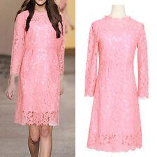 New Women Ladies Casual Shift Dress Long Sleeve AU Size 12 14 16 18 20 22 #4306