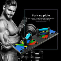 Best 9 in 1 Push Up Rack Board System Fitness Workout Train Gym Exercise Stands