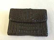 Black Genuine Crocodile Skin Women's Bi-Fold Wallet