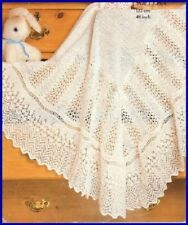Baby Knitting Pattern Copy Gorgeous LACY Shawl 3 ply