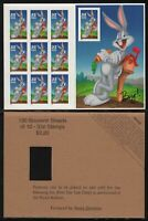1997 Bugs Bunny booklet with END CARD Sc 3137 sheet of 10 MNH