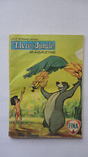 RARE LIVRE DE LA JUNGLE MAGAZINE BD STATION FINA N°6 WALT DISNEY 1968