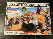 Kre-o Transformers Decepticon Ambush 38781 80 pieces 4 Kreon Figs **New Unopened