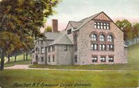 Antique Colgate University Gymnasium Hamilton New York NY  Vintage Postcard