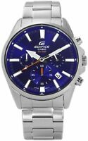 Casio Edifice Men's Quartz Blue Dial Silver-Tone Bracelet 42mm Watch EFV-510D-2A