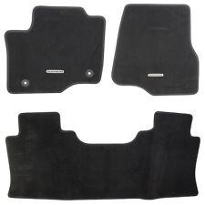 "OEM NEW 17-18 Ford Super Duty ""Platinum"" Logo Black Crew Cab Carpet Floor Mats"