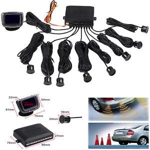 8 Sensor Car Parking Reversing System Buzzer Alarm Front Rear LCD Display Kit AU
