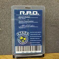 Resident Evil ID Badge-RPD Albert Wesker Alpha Team Leader costume cosplay