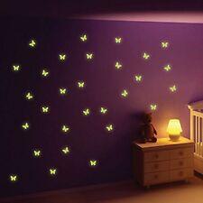 Glow in The Dark Butterfly Wall Stickers Baby Boy Girl Kids Room Decor Bedroom