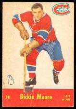 1955-56 PARKHURST HOCKEY QUAKER OATS #38 DICKIE MOORE VG MONTREAL CANADIENS