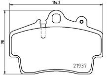 NEW MINTEX FRONT BRAKE PADS SET PORSCHE BOXSTER CAYMAN MDB1873
