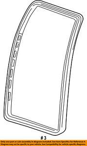 Lincoln FORD OEM 2002 Blackwood Rear Door-Weatherstrip Seal Left YL3Z1625325BA