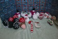 Liberty Advent Calendar with new handknitted decorations/ felt baubles worth £75