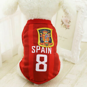 M Red Summer Pets Clothes Vest Coat T Shirt Jacket Clothing For Dogs Cats