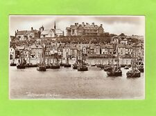 Folkestone Harbour RP pc used 1932 Slogan postmark Ref E817