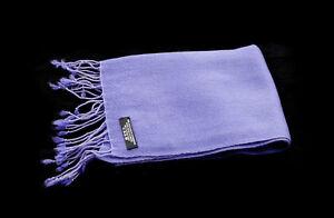 Scarf Shawl 100% Cashmere Pashmina Nepal Purple Parma 65 11/16x11 13/16in