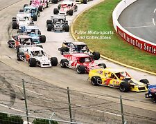 MIKE STEFANIK CHUCK HOSSFELD LW MILLER NASCAR MODIFIED 8X10 PHOTO 2002
