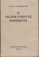 BUR 559-562 GALSWORTHY JOHN IL SIGNOR FORSYTE POSSIDENTE