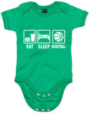 Eat sleep play, Basket-ball Inspiré Kid's Imprimé Baby Grow mignon sommeil Costu...