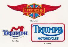 TRIUMPH Aufnäher Aufbügler Patches 3 Stück Motorrad Biker Kutte England UK