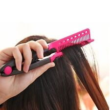 New V Type Hair Straightener Comb DIY Salon Hairdressing Styling Tool for women