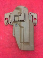 BLACKHAWK RH Holster w/Chest Strike Platform Brown C1208 CQC Fits Beretta 92/96
