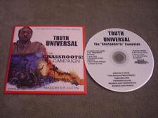 RARE PROMO Truth Universal CD Grassroots Campaign E.F. CUTTIN Self-Determination