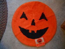 "JackoLantern Halloween Rug (s) 24"" 100% Cotton Midnight Market Orange Black !"