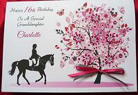 Personalised Handmade A5 Birthday Card -  Horse Rider 12th 13th 16th 18th 1569