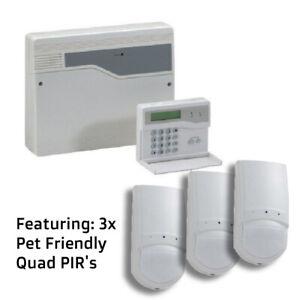 Honeywell ADE Accenta G4 Alarm Panel 8SP399A-UK WITH 3 Quad Pet Friendly PIR's