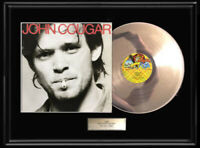 JOHN COUGAR MELLENCAMP WHITE GOLD PLATINUM TONE RECORD LP RARE SELF TITLED