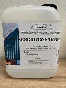 Holzdeckfarbe Wetterschutzfarbe Holzschutzfarbe 2,5- 5kg 9 Farben ab(7,78€/kg)
