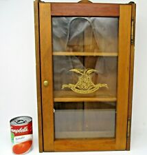 Extremely Rare Sauers 100th Anniversary Spice Cabinet Glass Door, Solid Pine