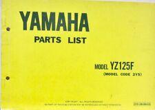 Casque camp yamaha yz125 125 1978-79 avec tous les nécessaire