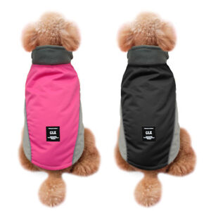 Waterproof Dog Coat Jacket Warm Fleece Reflective Small Large Dog Clothes S-2XL