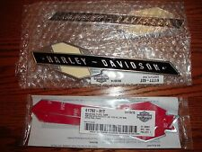 Harley 1963-1965  Gas Tank Emblems 61777-63 ..FL & XL . w/ MOUNTING KIT & SCREWS