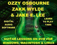 Ozzy Osbourne Zakk Wylde Jake E Lee Guitar TAB Lesson CD 912 TABS 94 BTs BONUS