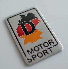 "ALUMINUM German Motor Sport Sticker Germany Decal Auto, Car, Truck 3.12""x2"""