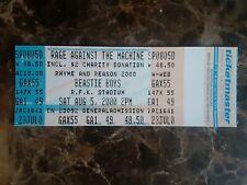 Beastie Boys and Rage Against The Machine ticket from Rfk Stadium 2000