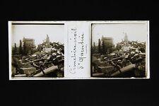 Saint Quentin France Plaque stéréo 45x107mm WW1 ca 1918