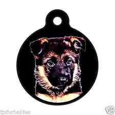 German Shepherd Puppy-Personalized Pet ID Tag for Dog & Cat Collars