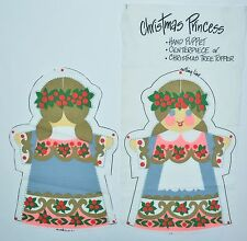 Vintage Christmas Princess Angel Hand Puppet Tree Topper Cut & Sew Print Panel
