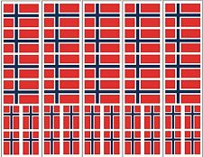 40 Removable Stickers: Norway Flag, Norwegian Party Favors, Decals