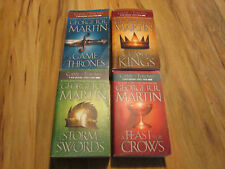(4)Game of Thrones, Clash of Kings, Storm of Swords, Feast for Crows R.R. MARTIN
