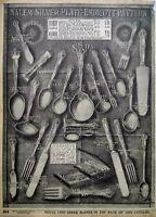 1917 Salem Endicott Silver Plate Flatware Art Sears Catalog Page Vtg Print Ad