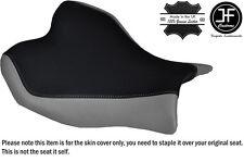 Diseño 2 Gris y Negro personalizado de vinilo cabe Suzuki Gsxr 1000 09-12 Cubierta de asiento delantero