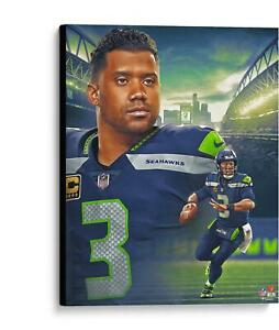 """Russell Wilson Seattle Seahawks Unsigned 20"""" x 24"""" Giclee Created"""